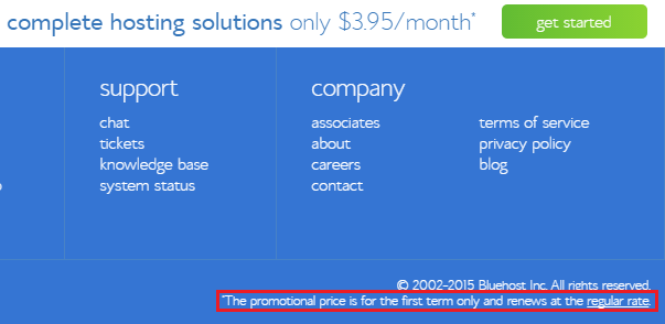 bluehost renewal price