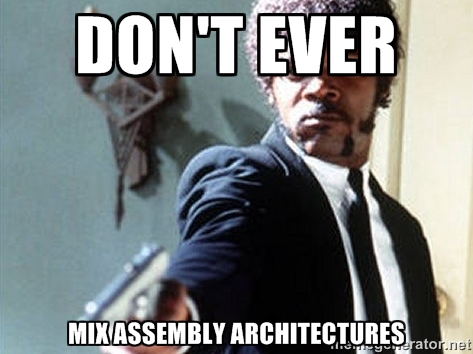 bitness-dont-mix-architectures