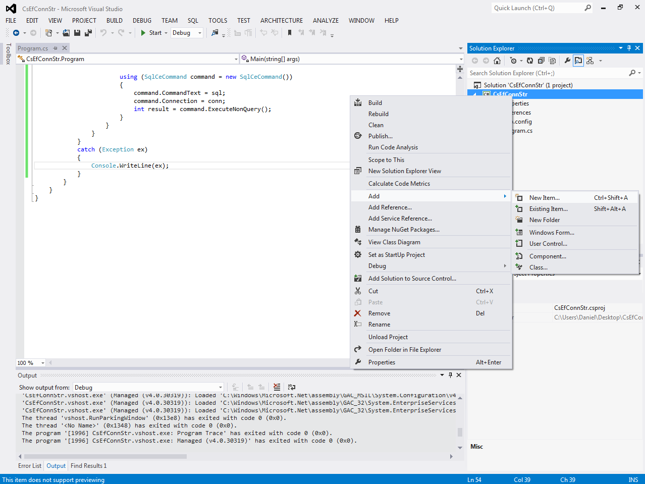 Setting Connection Strings at Runtime with Entity Framework