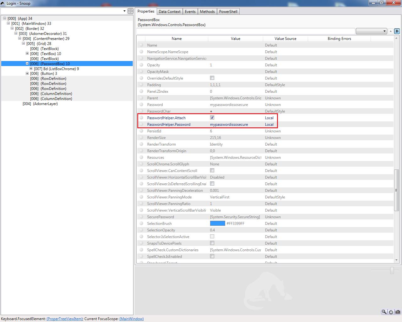 Security Risk in Binding WPF PasswordBox Password | Gigi Labs
