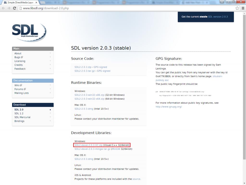 sdl2-vs-devlib