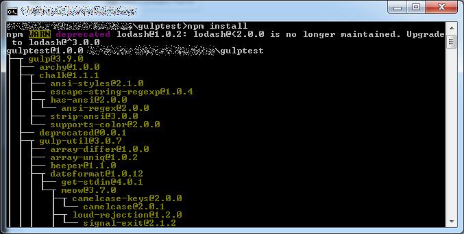 gulp-npm-install