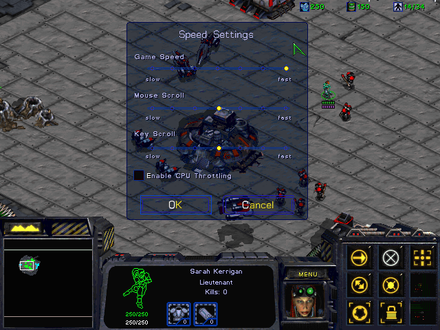 starcraft-speed-settings