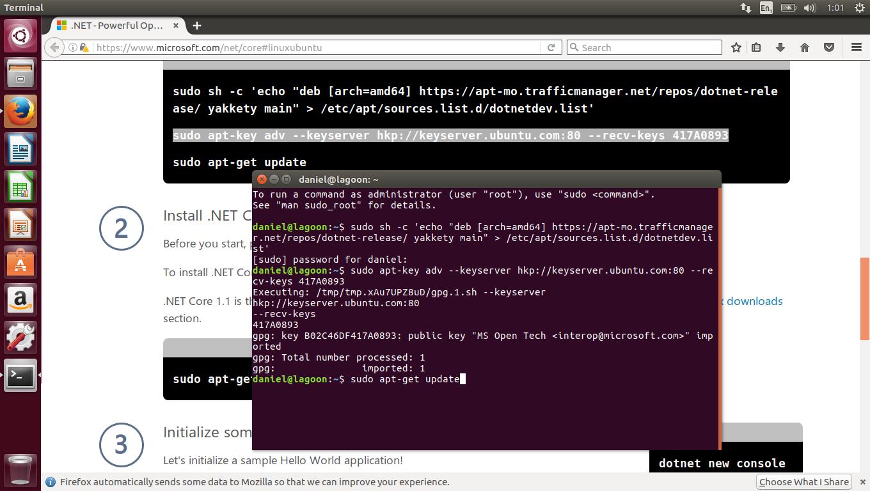Setting up  NET Core on Linux | Gigi Labs