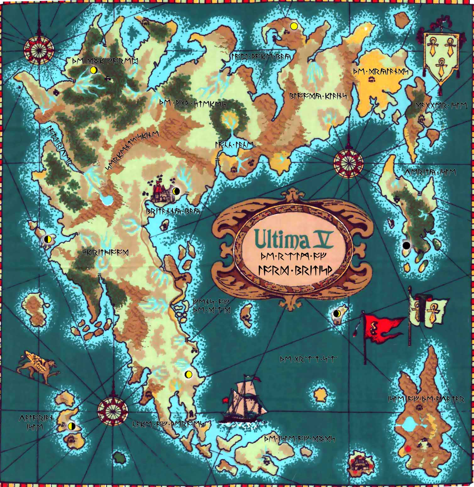Dino's Ultima 5 Guide on ultima 4 map, ultima v nes map, ultima underworld abyss map, ultima online map, ultima underworld the stygian abyss ps1,
